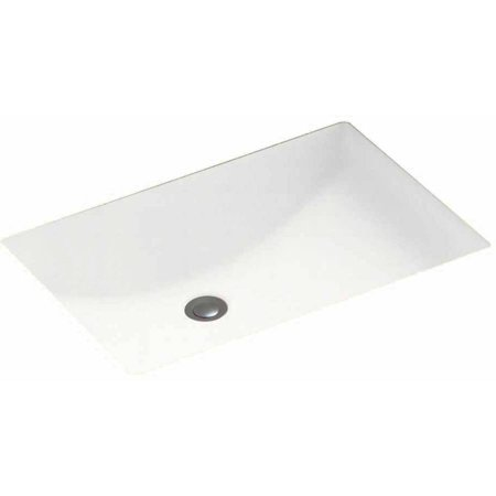 "Swan UC-1913-010 Swanstone 16"" x 6.25"" Undermount Rectangular Bathroom Sink with Overflow, Available in Various Colors"