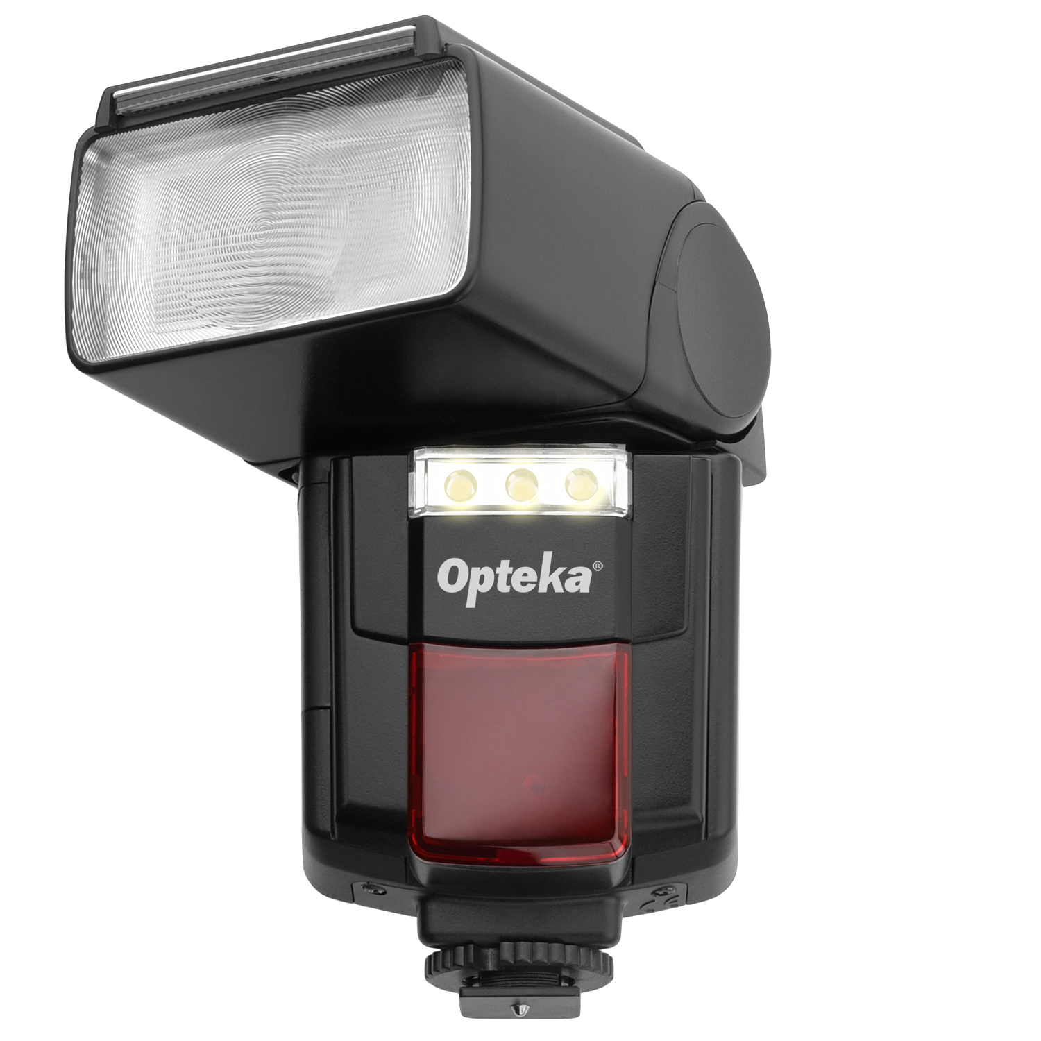 Opteka Flash IF-800 Autofocus Speedlight with Built-In 3-LED Video Light for Canon, Nikon, Pentax, Sony, Panasonic, Olympus, Samsung, Fujifilm, Ricoh DSLR and Digital Cameras with Standard Hot Shoe