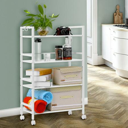 Bathroom storage cart serving bar cart utility trolley - Bathroom storage cart with wheels ...