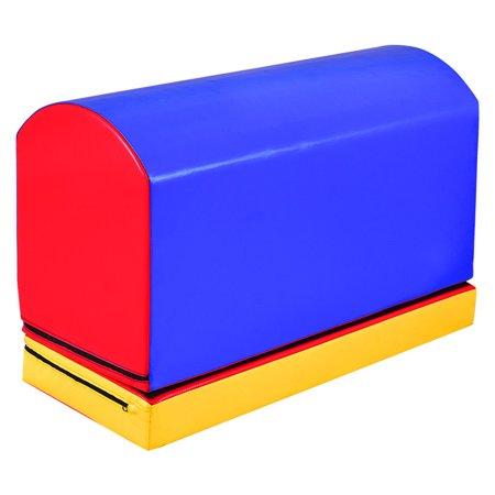 Gymax Mailbox Trainer Tumbling Aid Gymnastics Jumping Box Heightening Mat ()