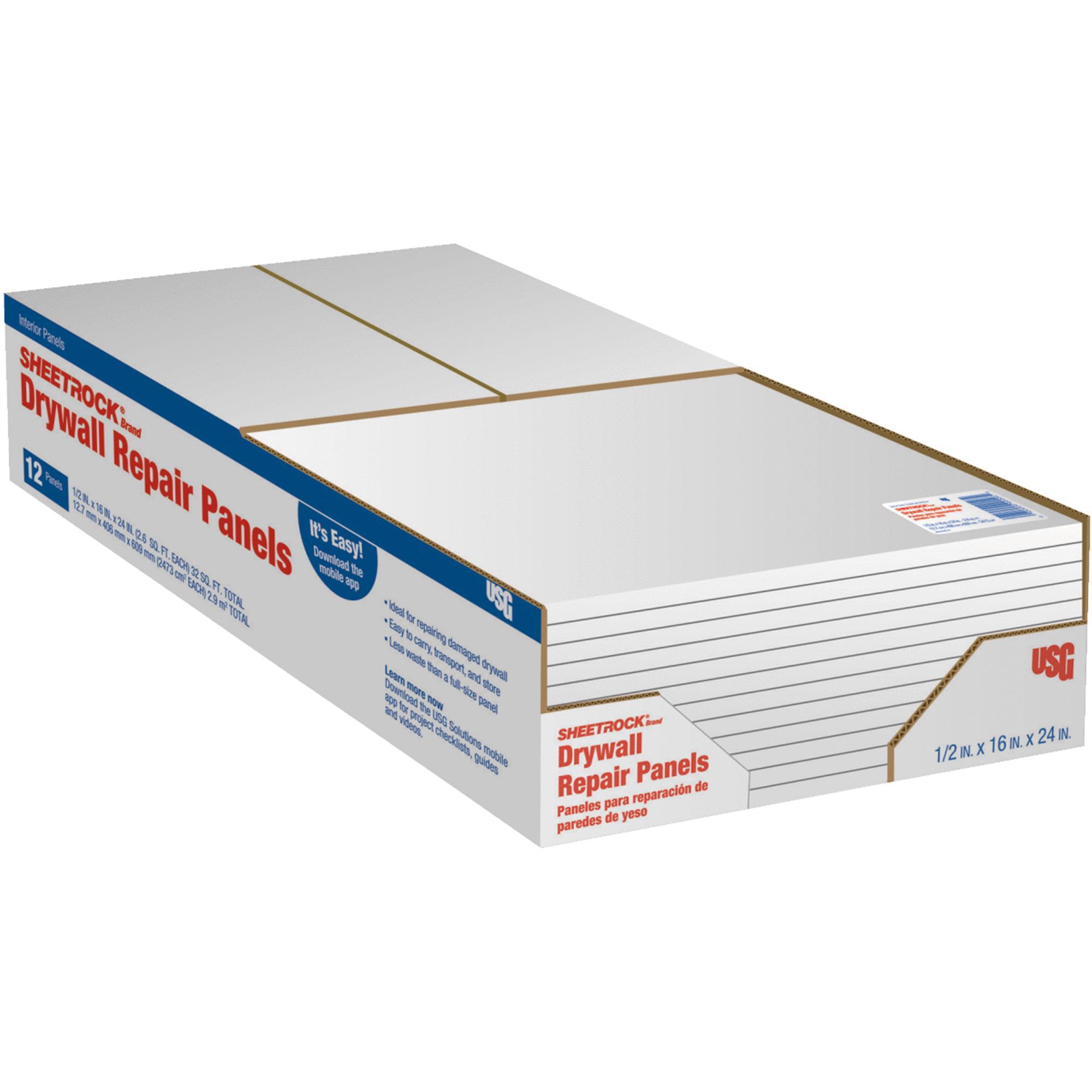 "1//2 X 16 X 16/"" Drywall Patch Repair Sheet"