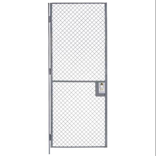 WIREWAY/HUSKY W2203000-10000 Wire Partition Hinged Door,3 ft x 7 ft G2299276