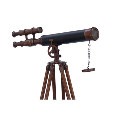 Floor Standing Bronzed With Leather Griffith Astro Telescope 65