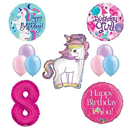 Unicorn 8th Birthday Girl Party Supplies And Balloon Decorations