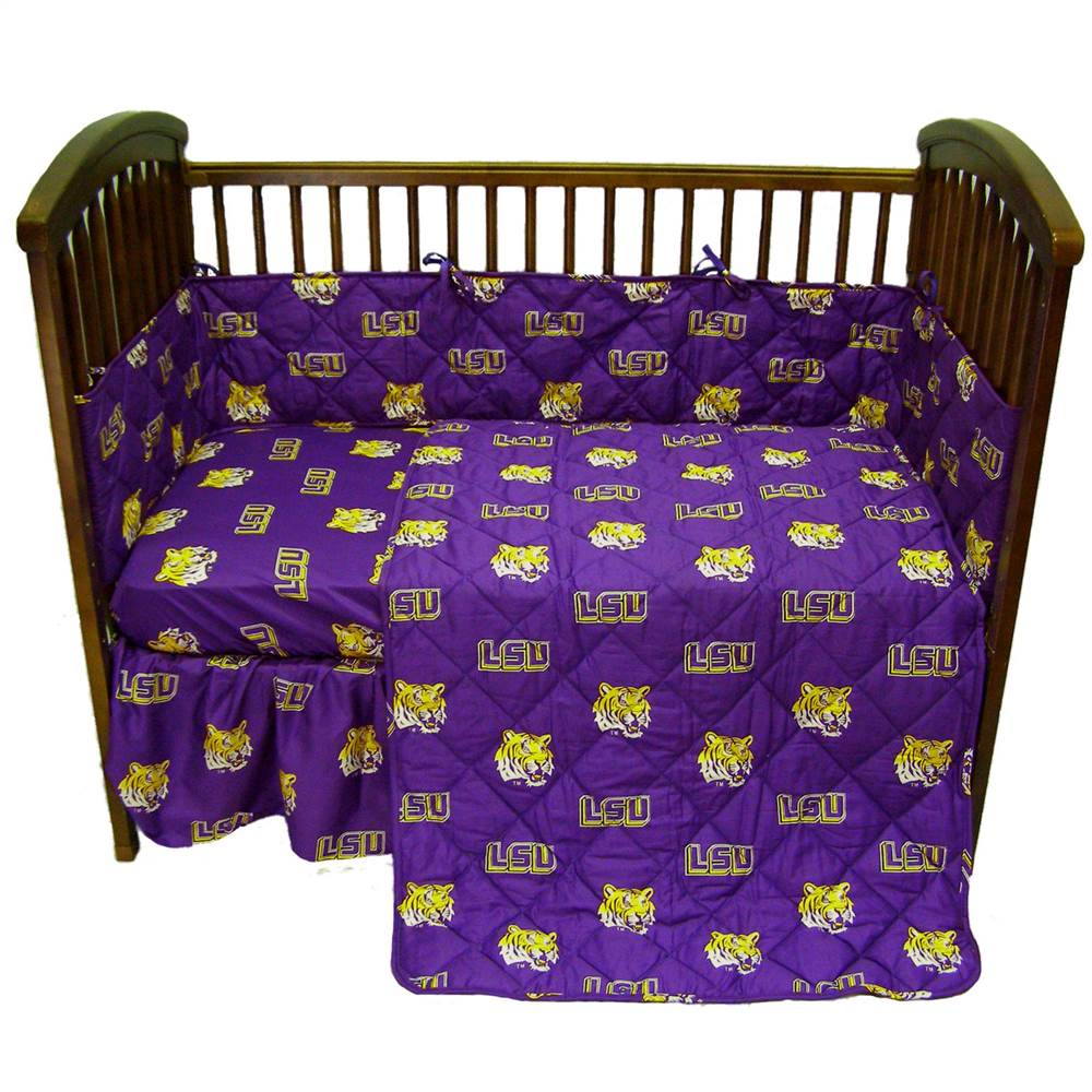 Louisiana State University Crib Set