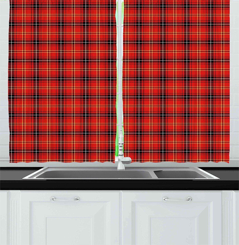 Retro Kitchen Curtains by , Traditional Scottish Tartan Pattern ...