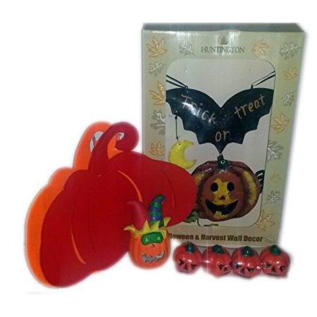 Halloween Themed Radio (Halloween Theme Wall Decor & Candles 7 Piece Home Decor)