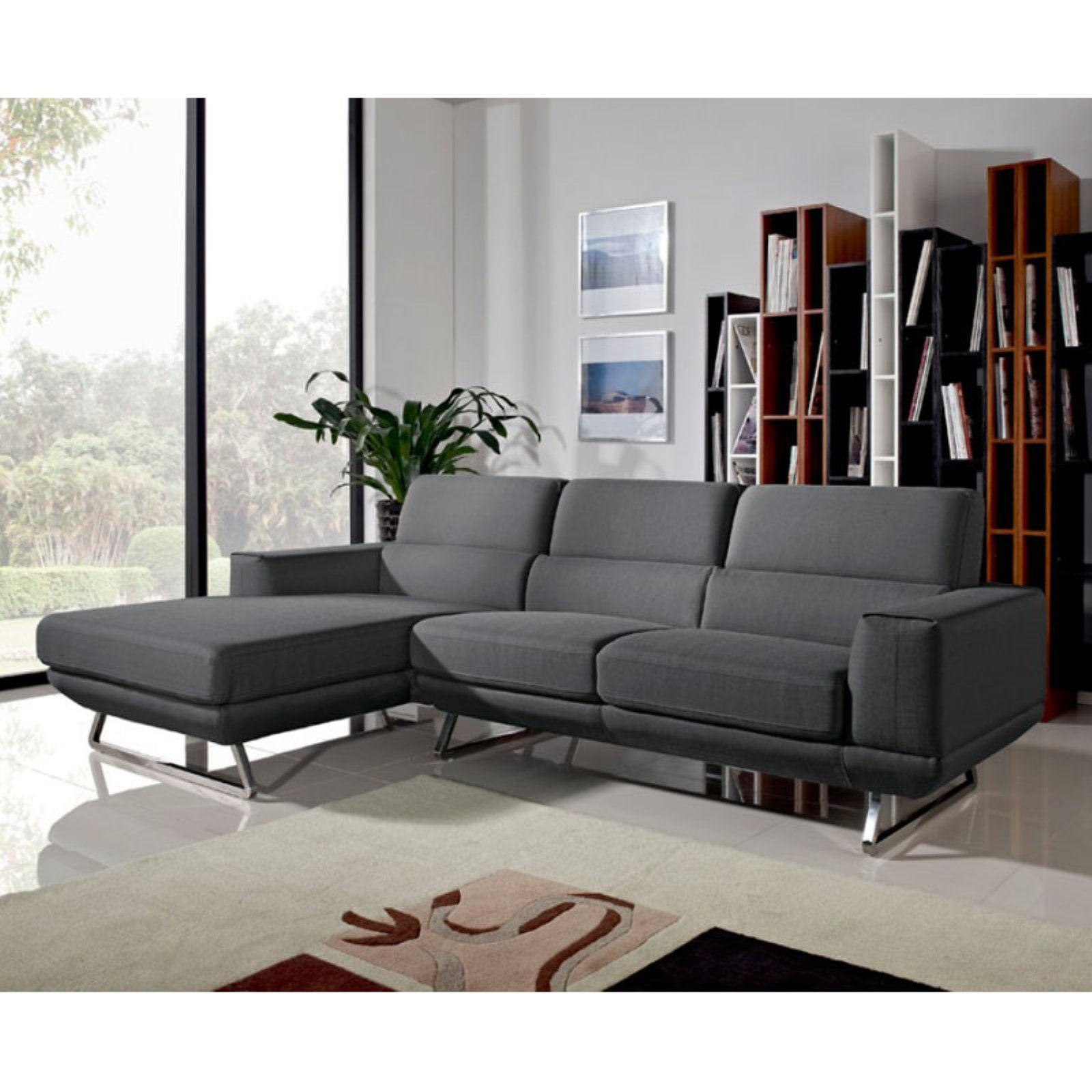 Divani Casa Becket Modern Fabric Sectional Sofa
