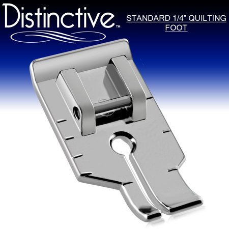 "Distinctive Standard 1-4"" Quilting/Sewing Machine Presser Foot - Fits All Low Shank Snap-On Machines"