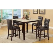 Simple Relax PDEX-F2338 Casual Styled Counter Height Table with Faux Marble Top