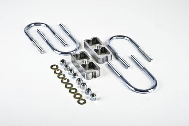 Chassis Tech 2 lowering Blocks Chevy S10 Drop kit /& Rear axle u Bolts GMC Sonoma Aluminum