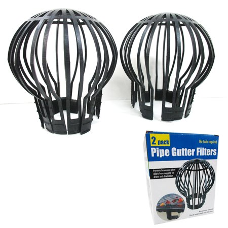 2 PIECE DOWN PIPE GUTTER BALLOON GUARD FILTERS STOPS BLOCKAGE LEAVES DEBRIS (Best Gutter Guards 2019)