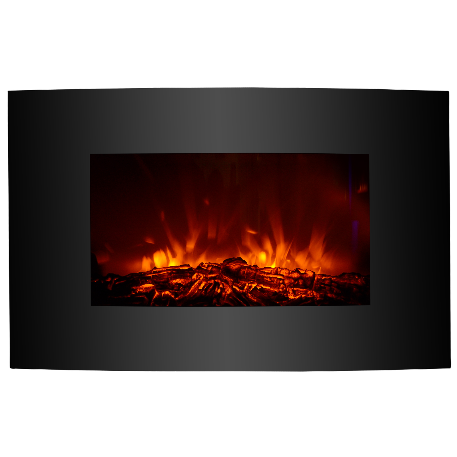 "35""x22"" XL Large 1500W Electric Fireplace Wall Mount Heater w  Remote Adjustable by Uenjoy"