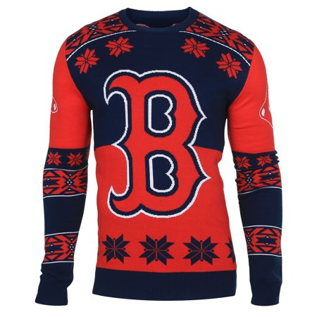 "Boston Red Sox MLB Mens ""Big Logo"" Ugly Sweater by"
