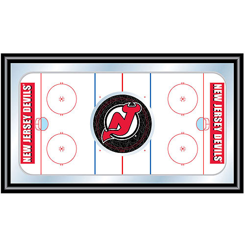 NHL New Jersey Devils Framed Hockey Rink Mirror