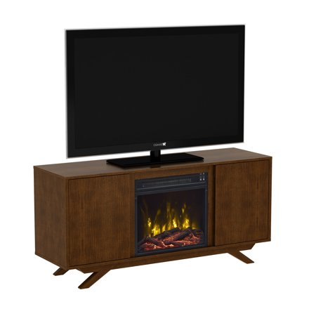 wynnefield cherry tv stand for tvs up to 55 with electric fireplace. Black Bedroom Furniture Sets. Home Design Ideas