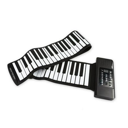 61 Keys 88 Keys Roll Up Piano Flexible Soft Electronic Digital Piano Roll Up Keyboard Piano Portable Piano for Beginner 88 Keys Black - image 1 de 7