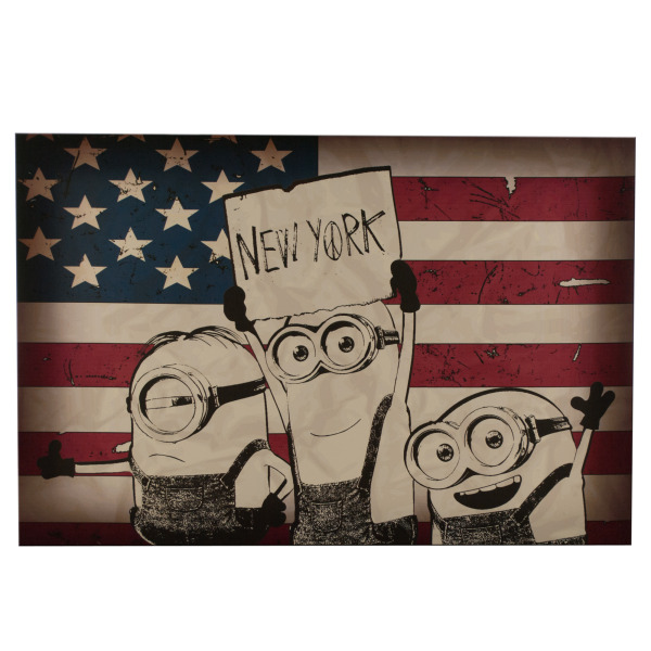 Medium Minions New York Canvas Art (Pack Of 6)