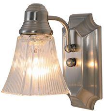 "Decorative Vanity Fixture, Maximum One 60 Watt Incandescent Medium Base Bulb, 5-1-2"", Brushed Nickel"