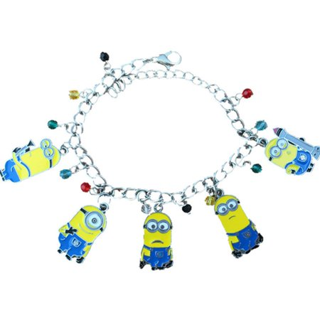 Minions 5 Charms Lobster Clasp Bracelet in Gift Box by - Minions Gift