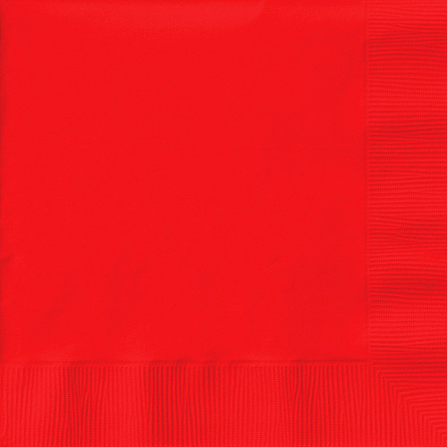 Creative Expressions Luncheon Napkins 50-Pack, Classic Red