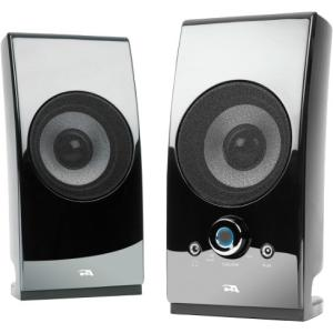 Cyber Acoustics CA-2027 Speaker System - 5 W RMS - Desktop - Glossy Black DESKTOP CONTROLS BLACK GLOSSY