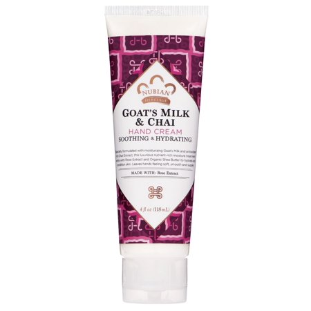 Hang Four (Nubian Heritage Hand Cream Goat's Milk And Chai with Rose Extract, 4 fl)