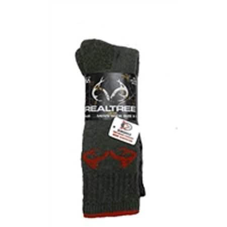 Men's Realtree All Season Wear 2 pack Boot Sock All Season Boot Sock