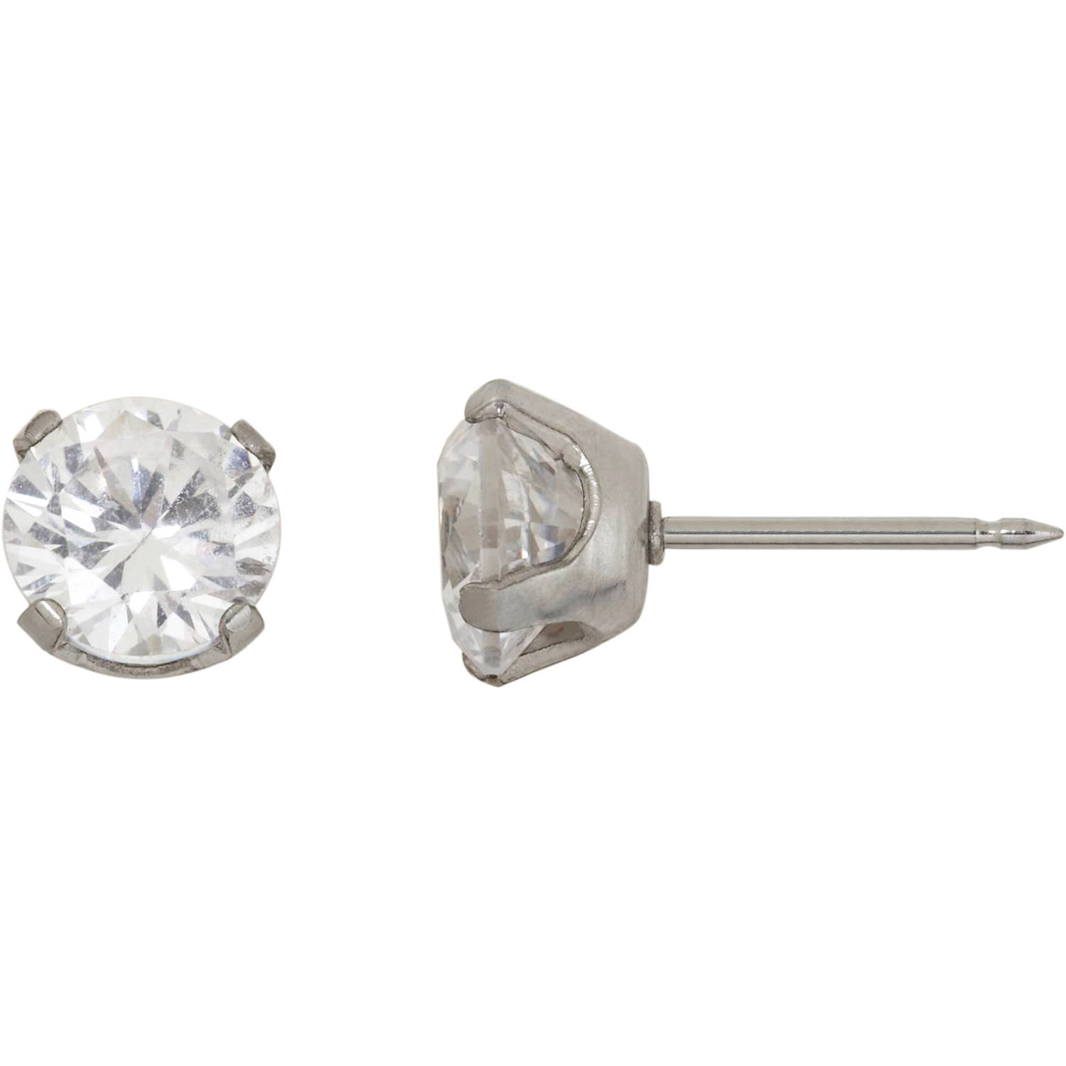 Home Ear Piercing Kit with Stainless Steel 7mm CZ Earring