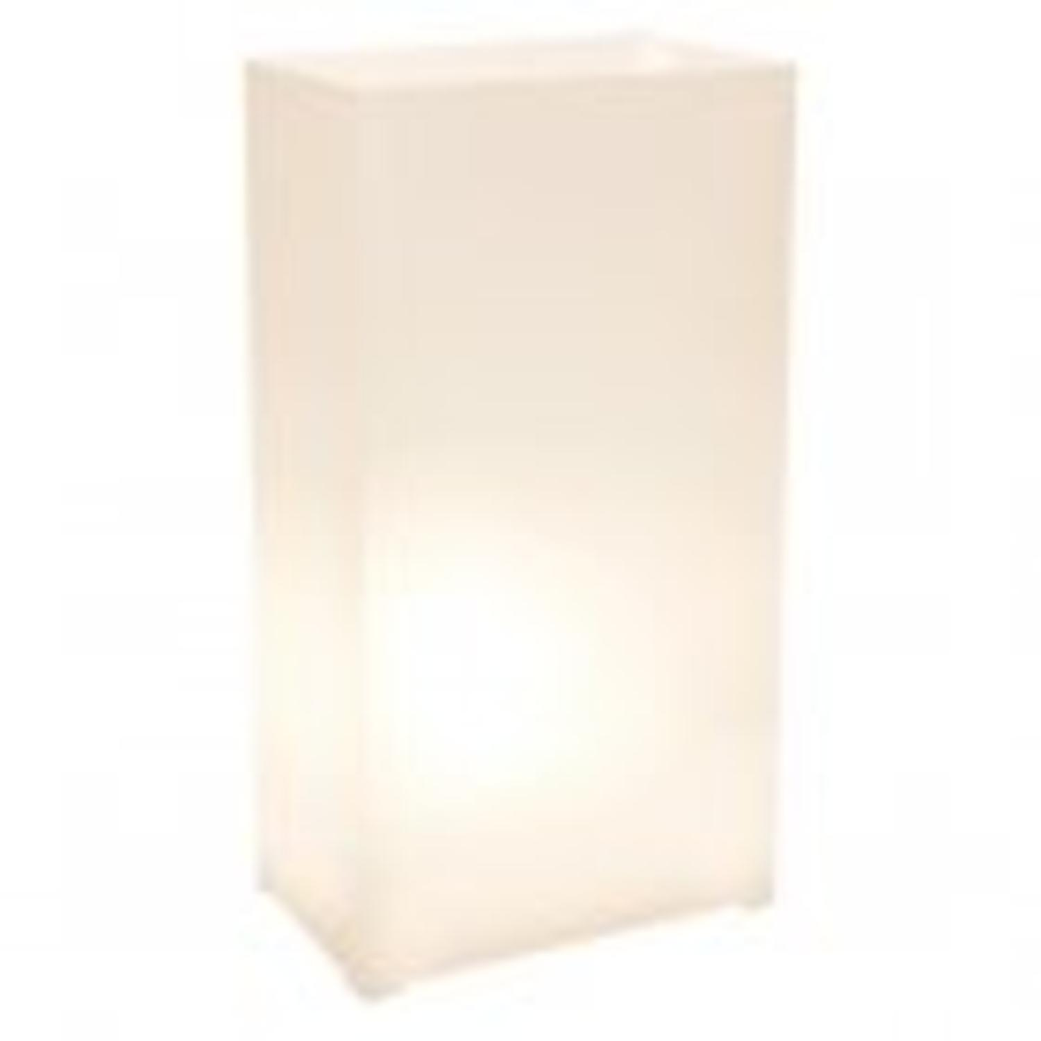 """Club Pack of 12 Traditional White Plastic Patio Decor Luminaires Bags 11"""""""