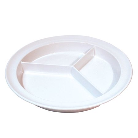 Three-Section Melamine Plate- 9-Inch