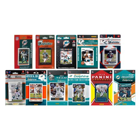 C & I Collectables NFL Miami Dolphins 11 Different Licensed Trading Card Team sets