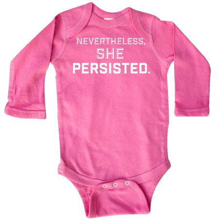 Inktastic Nevertheless  She Persisted Long Sleeve Creeper Womens Rights Feminism
