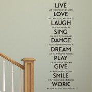 Belvedere Designs LLC Live Love Laugh Sing Etc. Wall Quotes  Decal