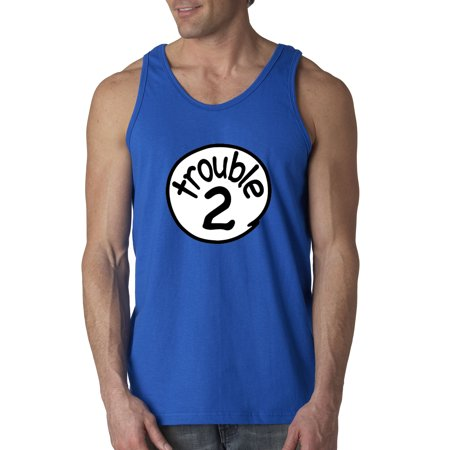 New Way 722   Mens Tank Top Trouble 2 Two Dr Seuss Thing Parody