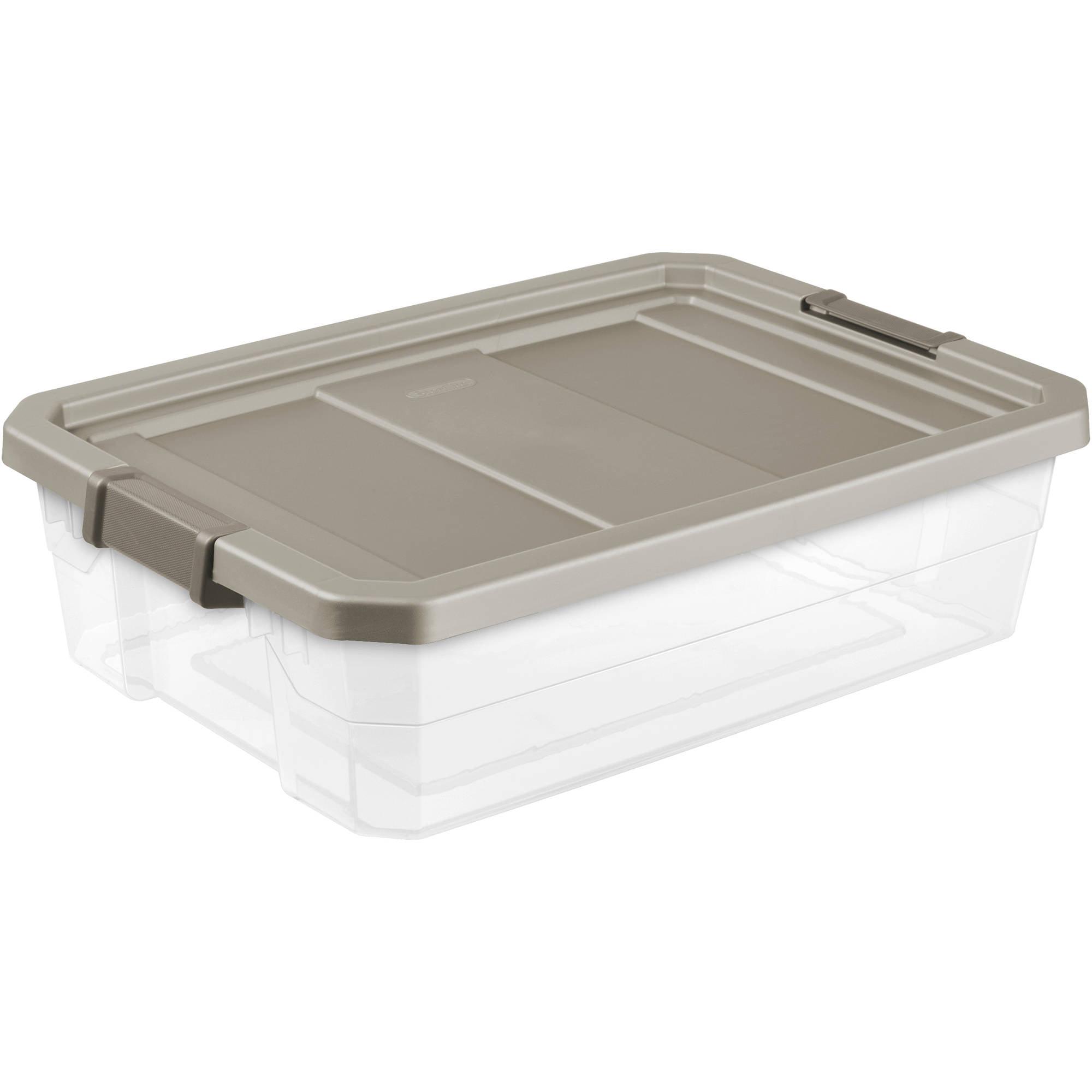 Sterilite 10 Gallon Stacker Box- Mica