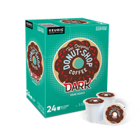 The Original Donut Shop Dark K-Cup Coffee Pods, Dark Roast, 24 Count for Keurig Brewers