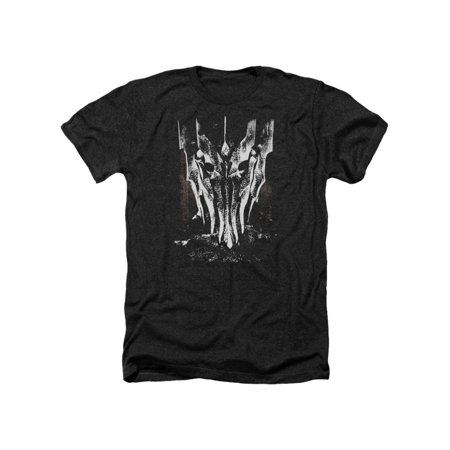 Lord of The Rings Movie Black & White Big Sauron Head Adult Heather T-Shirt Tee (Lord Of The Rings Adult Onesie)