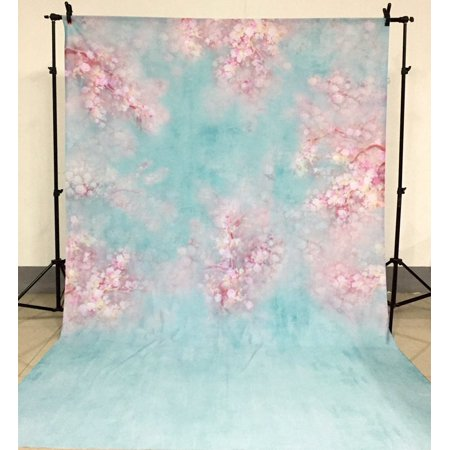 GreenDecor Polyster 5x7ft Photography Background Newborn Vintage Flower Baby Shower Backdrop Studio Prop - Baby Shower Backdrops