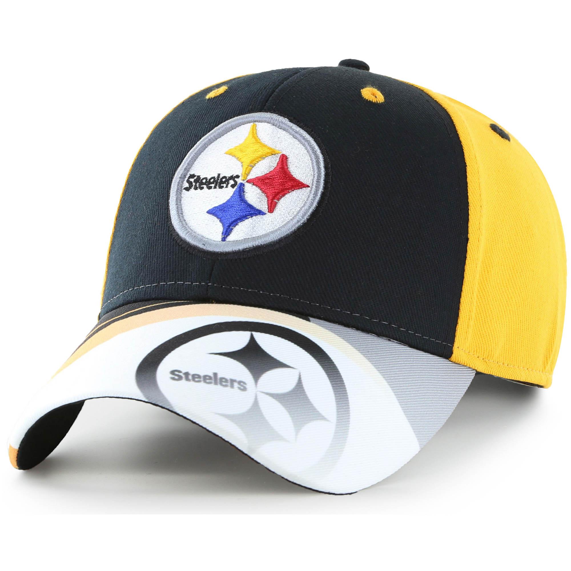 Men's Fan Favorite Black/Gold Pittsburgh Steelers Squib Kick Adjustable Hat - OSFA