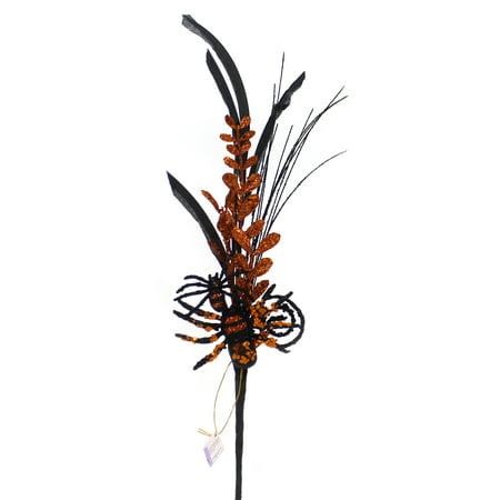 Halloween SPIDER HALLOWEEN PICK Wire Glitter Feather - Halloween Picks