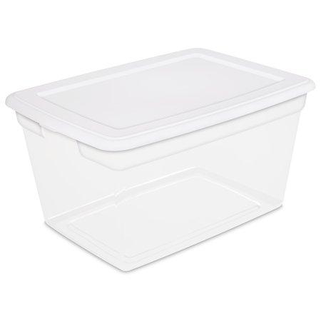 Sterilite 58 Qt 55 L Storage Box White