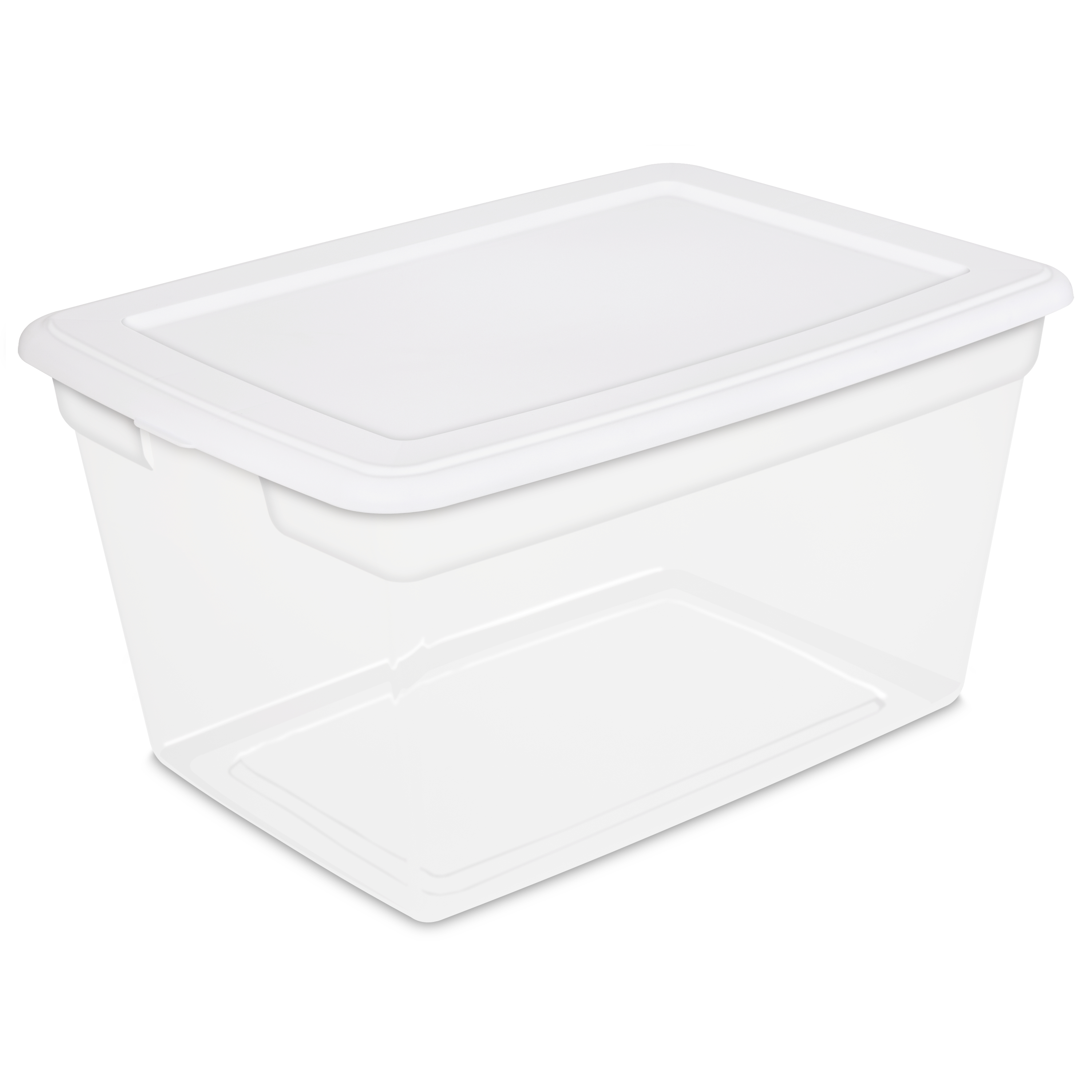 sterilite 58quart storage box white available in case of 8 or single