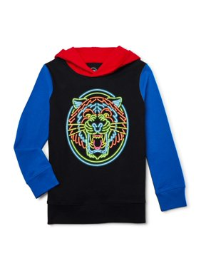 Wonder Nation Little & Big Boys' Graphic Hoodie, Also Available in Husky