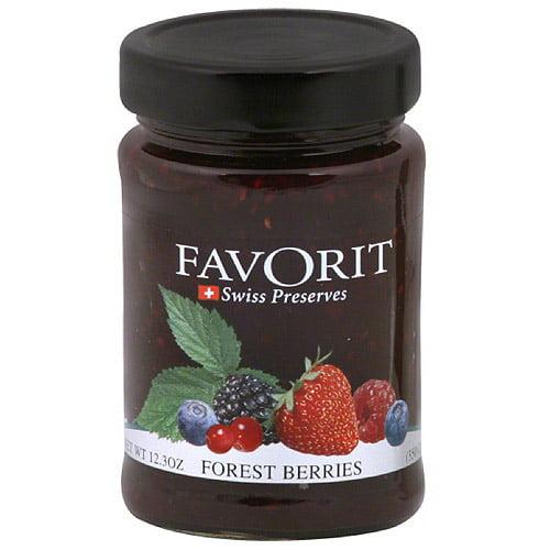 Favorit Forest Berries Preserves, 12.3 oz (Pack of 6)