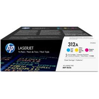 HP 312A (CF440AM) Cyan/Magenta/Yellow Original LaserJet Toner Cartridges, 3-Pack