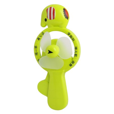 Portable Elephant Shaped Hand Pressure  Fan  Game Green