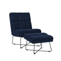 Homesvale Seamus Modern Armless Chair and Ottoman