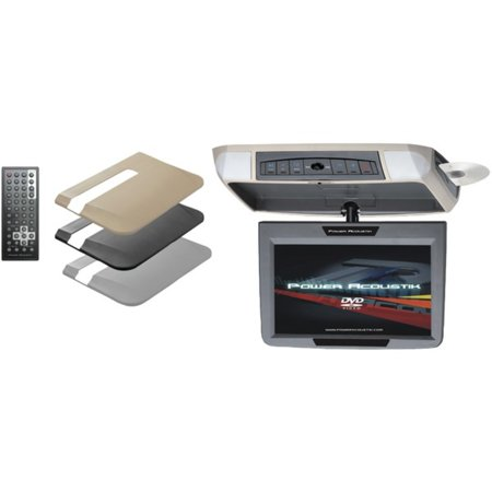 Power Acoustik PMD-90 9 Ceiling-Mount Swivel DVD Entertainment System with IR & FM Transmitters & 3 Interchangeable