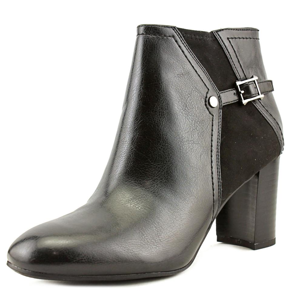 Franco Sarto Deora Women Round Toe Synthetic Black Ankle Boot by Franco Sarto